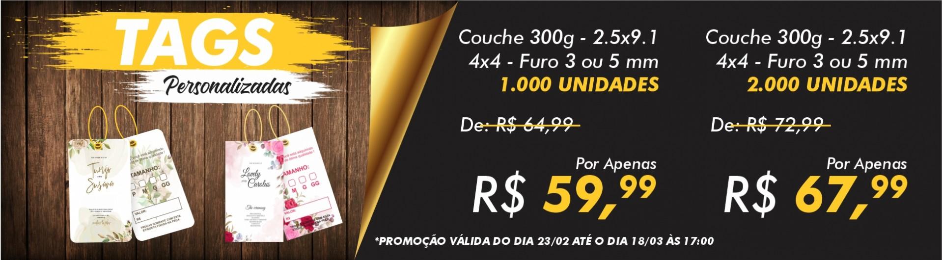 PROMOÇÃO TAG 4X4 - 2.5X9.1