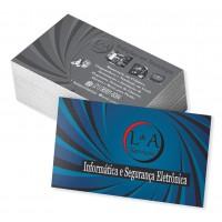 CARTÕES DE VISITA - 1.000 UND - 4X1 - VERNIZ TOTAL FR
